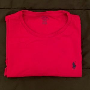 Red Polo T-shirt, gently worn.
